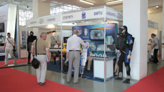 The 6th international maritime defense show in Saint-Petersburg, Russia Stock Footage