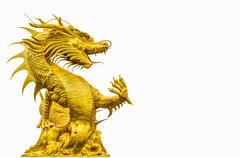 Golden dragon statue Stock Photos