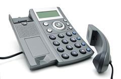 digital telephone with display - stock photo