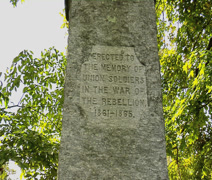 Civil War Monument Engraving Stock Footage