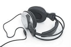 stereo headphones - stock photo