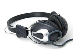 Stereo headphones Stock Photos