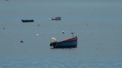 Boats at fishing village Camara de Lobos Stock Footage
