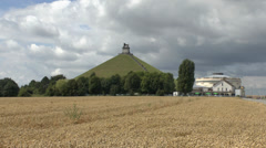 Butte du Lion, Waterloo battlefield, Belgium Stock Footage
