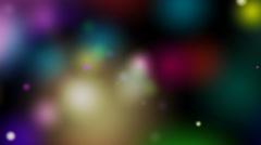 Colorful bokeh blur Stock Footage