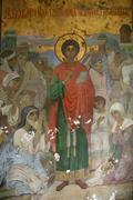 New aphon monastery. abkhazia. saint panteleimon icon Stock Photos