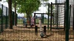 Kids playground - stock footage