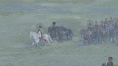The Panorama, Waterloo battlefield, Belgium Stock Footage