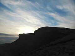 Caucasus mountains and sunset Stock Photos