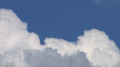 Time lapsed fluffy cumulus clouds pre keyed alpha channel Stock Footage