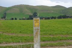 Warning fence - stock photo