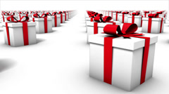 Endless Gift Boxes front view loop Stock Footage