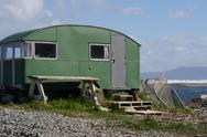 Stock Photo of Seaside caravan