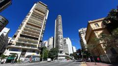 Edifício Italia Sao Paulo Brazil skyline Stock Footage