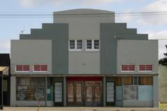Stock Photo of Art Deco Cinema Facade - closed