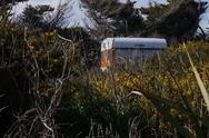 Stock Photo of Old caravan in the bush
