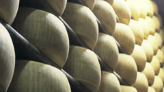 Parmesan cheese industry Stock Footage