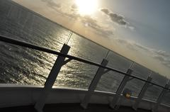 Sunset Onboard - stock photo