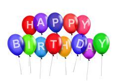 Happy birthday party ilmapalloja Piirros