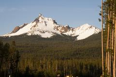 Mount thielsen big cowhorn extinct volcano oregon high cascades Stock Photos