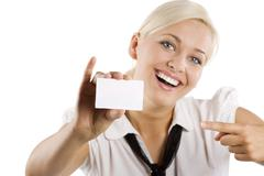 Stock Photo of showing white card