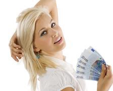Euro woman Stock Photos