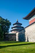 Taivaan temppeli ja sininen taivas - stock photo