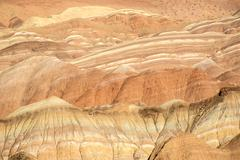 Colorful stripes on the mountains, danxia landform in zhangye, gansu of china Stock Photos