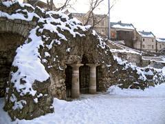 Diana's grotto. pyatigorsk. winter Stock Photos