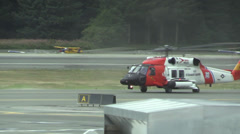 U.S. Coast Gurard Rescue Helicopter Stock Footage