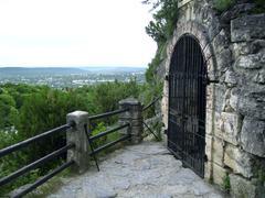 llermontov's grotto. pyatigorsk. caucas - stock photo