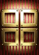 Gold on red background Stock Illustration