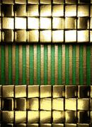Stock Illustration of gold on green background