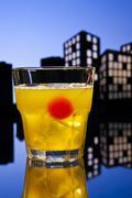 skrew driver cocktail - stock illustration