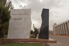 The monument in memory of those killed in the aksy events of 2002 and the eve Stock Photos