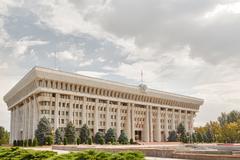 the parliament (supreme council) of the kyrgyz republic - stock photo
