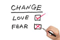Change, love or fear Stock Photos