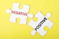negative versus positive - stock photo