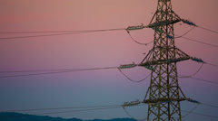 Colorful electrical tower Stock Footage