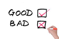good or bad - stock photo