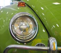 Nakhon pathom, thailand - august 28 : green vintage car in exhibition of old  Stock Photos