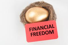 Stock Photo of financial freedom concept