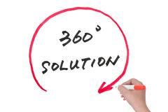360 degree solution Stock Photos
