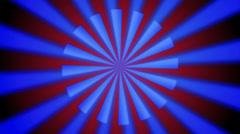 Blue line sun Stock Footage