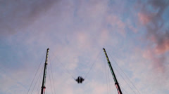 Amusement Park Ride: Globe Shoot Stock Footage