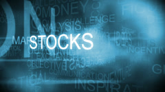 Stock Video Footage of CG montage of business ambition finance text words