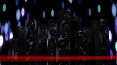 Loudspeakers 2 Stock Footage