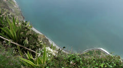 Downview from highest cliffs Stock Footage