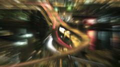 Marquam Bridge Freeway Traffic Light Burst Ray Effect Time Lapse at Night - stock footage