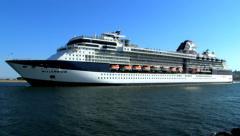 Cruise Ship Millenium 2 Stock Footage